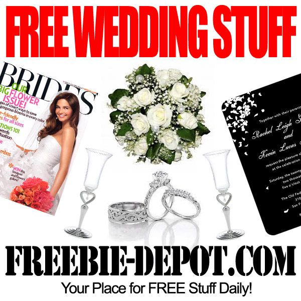 Free Wedding Stuff Freebie Depot Free Wedding Wedding Freebies Wedding Website Free