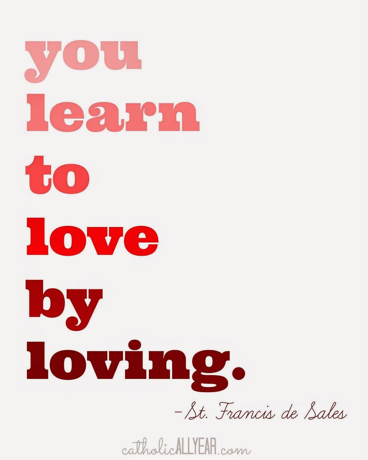 Free Printable Valentine S Quote: Catholic All Year: Seven Free Printable Catholic