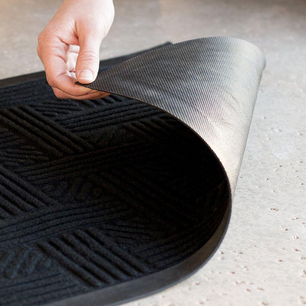 Black Door Mat Waterproof Rubber