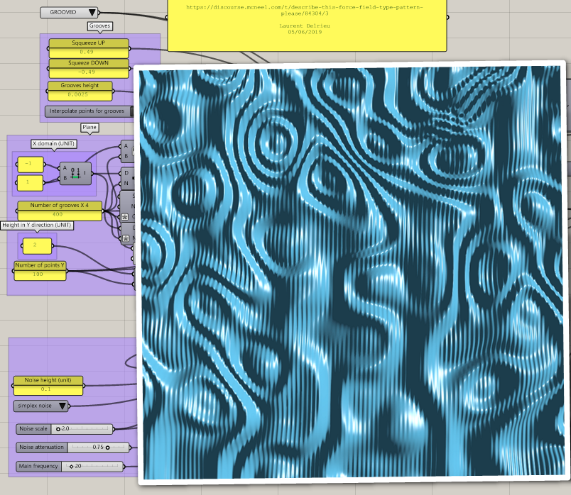 Describe This Force Field Type Pattern Please Grasshopper Mcneel Forum Perlin Noise Grasshopper Shell Structure