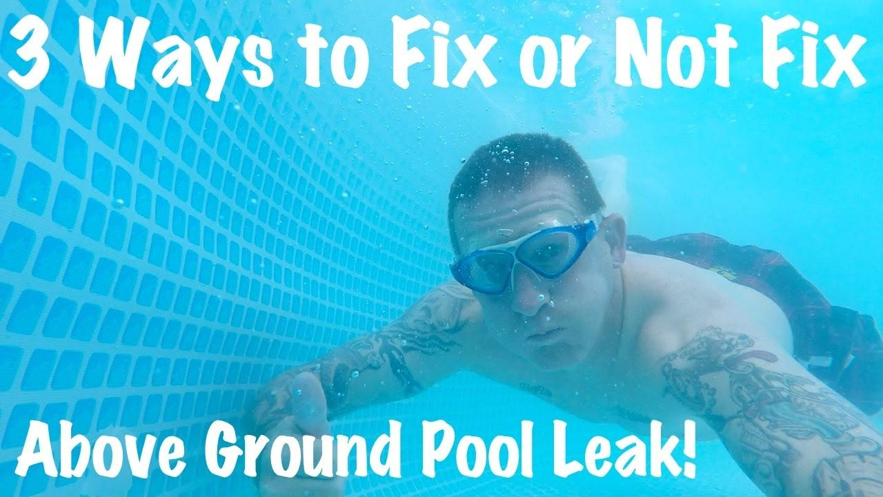 how to find a leak in a pool liner