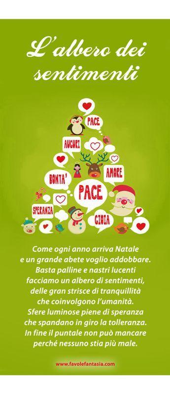 Alberi Di Natale Per Auguri.Poesia Natalizia L Albero Dei Sentimenti Bambini Di Natale Auguri Natale Natale