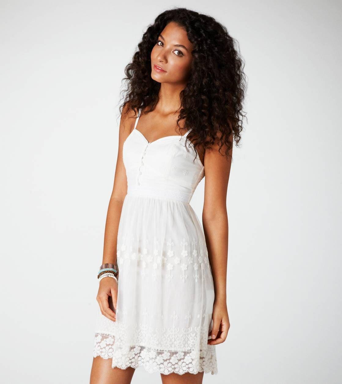 Ae embroidered mesh corset dress my closet needs pinterest