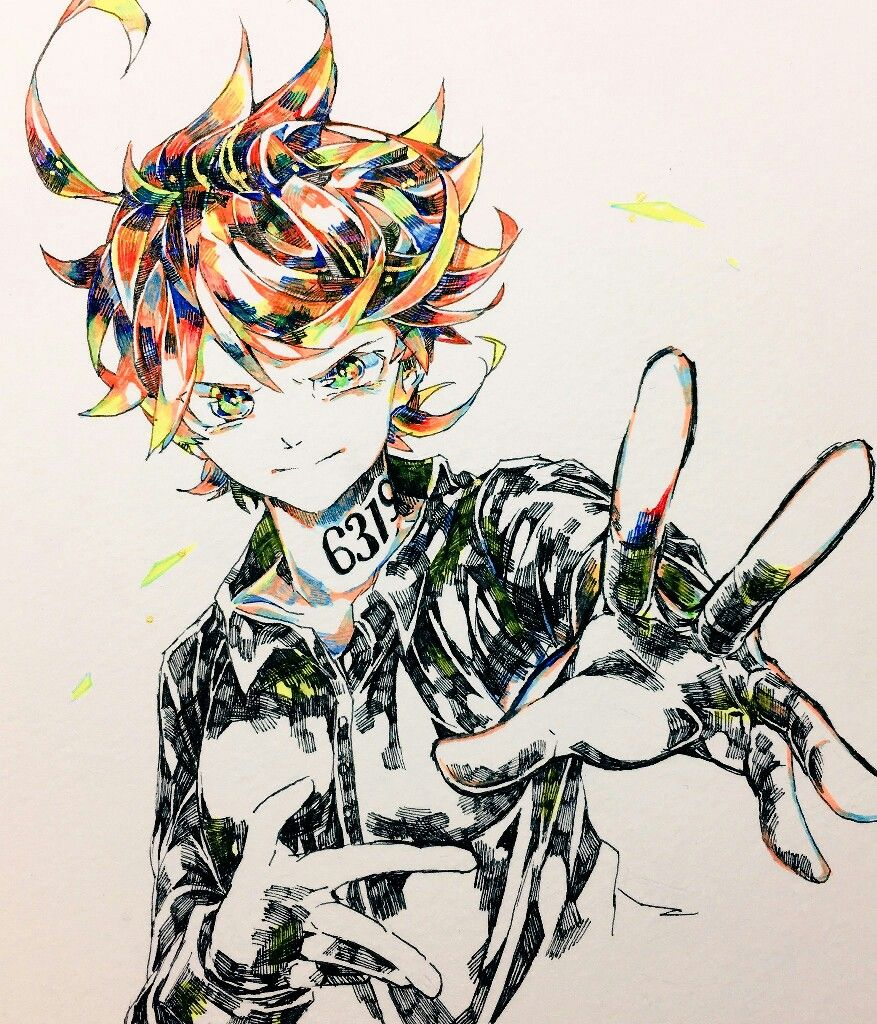 Emma The Promised Neverland イラスト