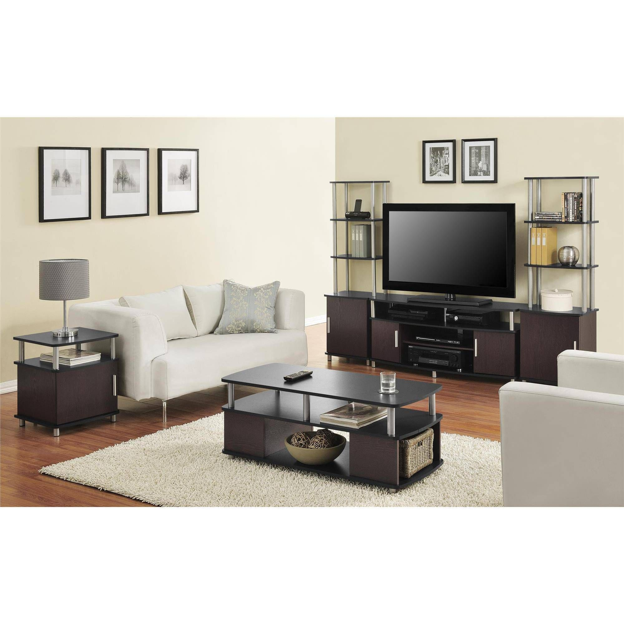 Black Coffee Table And Tv Stand