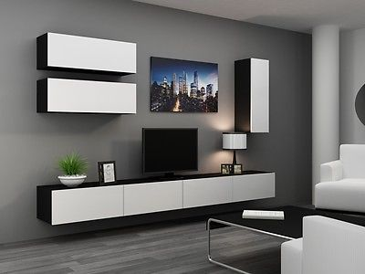 High Gloss Tv Cabinet Wall Unit Stand Viva 13
