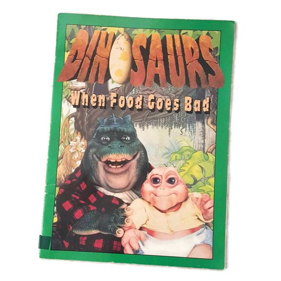 Dinosaurs TV Show Book When Food Goes Bad 24 Pages Color Illustrations & TV Show Photos 1993 by ThriftyTheresa