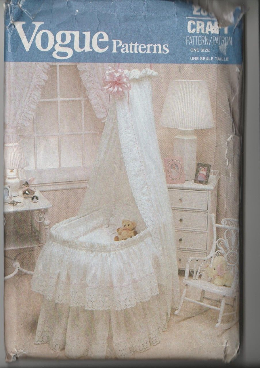 See sally sew patterns for less bassinet comforter curtain hood see sally sew patterns for less bassinet comforter curtain hood vogue 2869 craft sewing jeuxipadfo Images