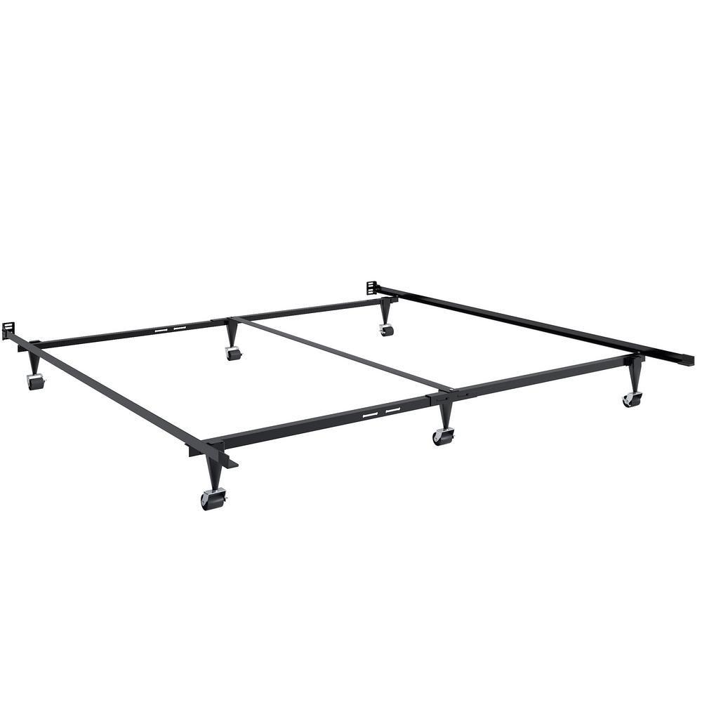 Best Corliving Adjustable Queen Or King Metal Bed Frame Black 400 x 300