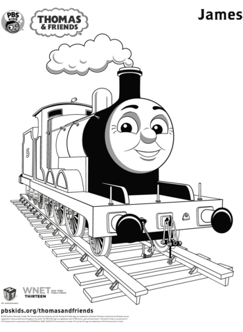 James From Thomas Friends Coloring Page Train Coloring Pages Coloring Pages For Kids Thomas And Friends