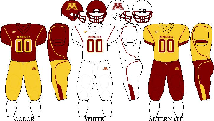 Minnesota Golden Gophers Football Team Uniforms Minnesota Golden Gophers Football Minnesota Gophers Football Minnesota Gophers