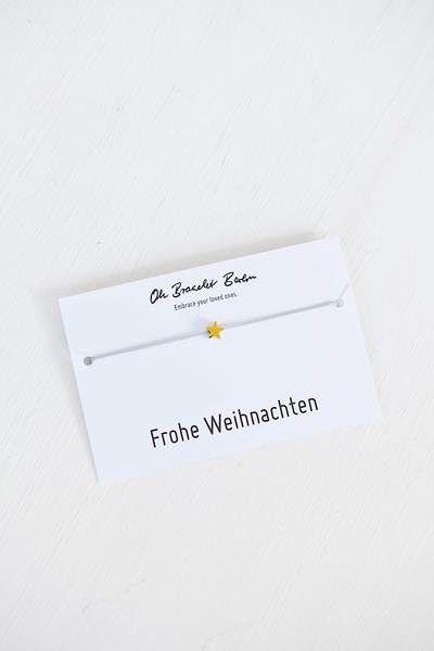 """Photo of Oh Bracelet Berlin nylon bracelet star """"Merry Christmas"""""""