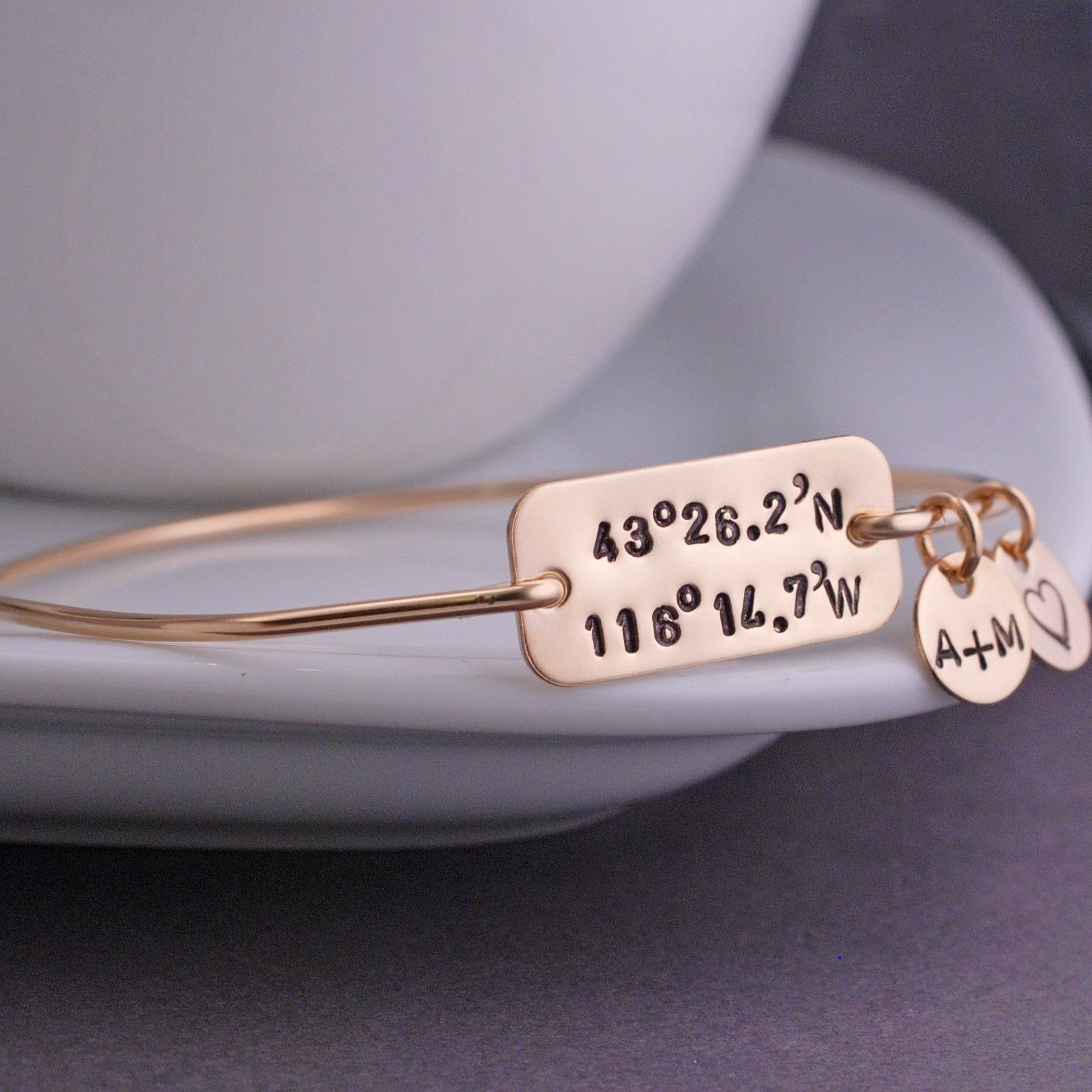 thin bracelet womens gold latitude silver of stacking jewels string copper custom longitude