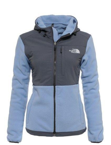 Womens The North Face Denali Fleece Hoodie Light Blue