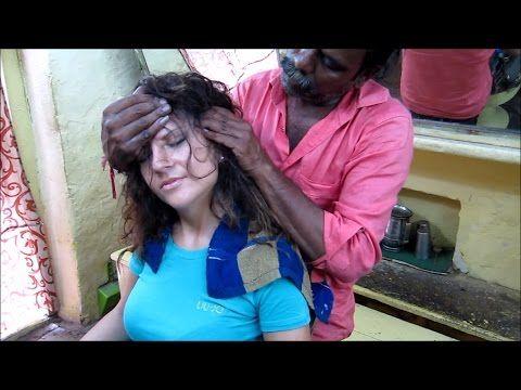 World 39 S Greatest Head Massage 19 Eliana Asmr Barber Meets Baba The Cosmic Barber Youtube Head Massage Massage Massage Techniques