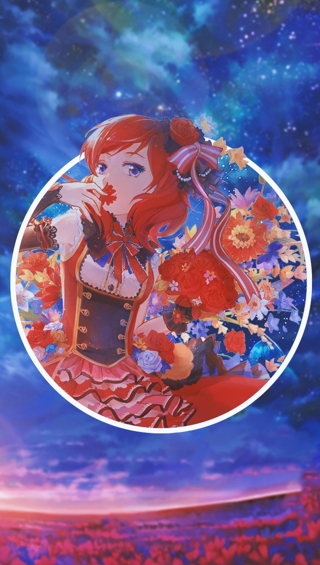 Anime Anime Girls Picture In Picture Love Live Maki Nishikino Nishikino Maki 720p Wallpaper In 2020 Anime Wallpaper Phone Hd Anime Wallpapers Anime