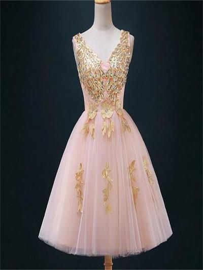 5ac25774f8a Short Pretty Pink Lace Homecoming Dresses