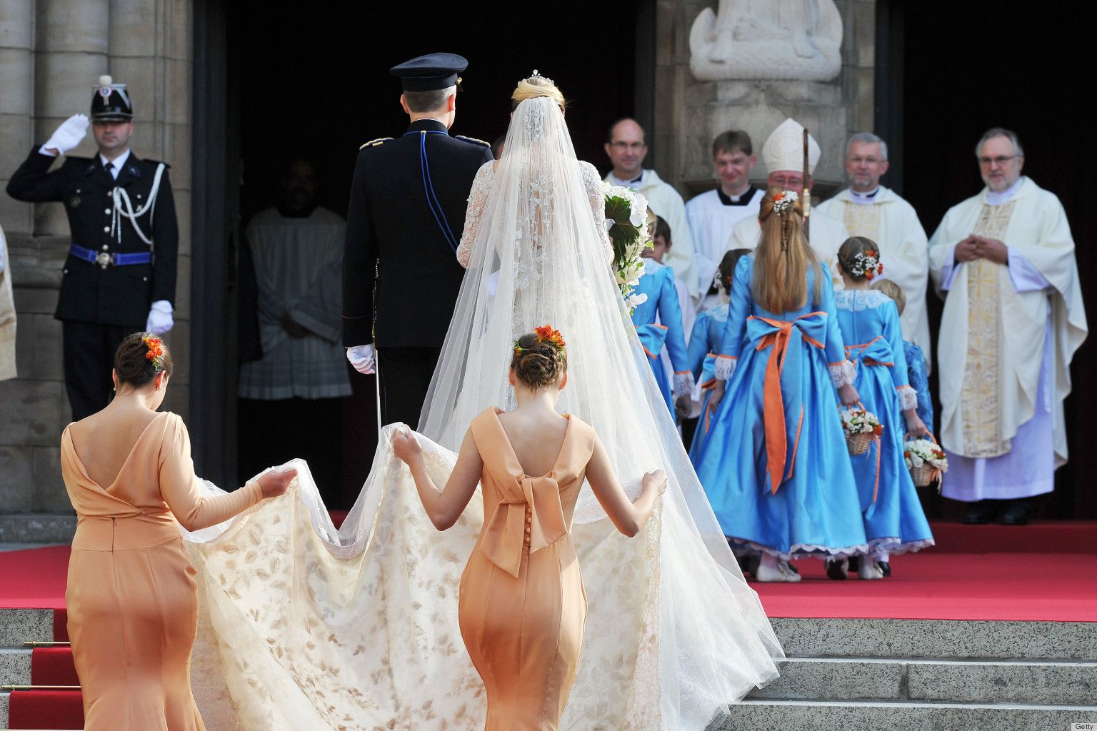 PHOTOS: Prince Guillaume & Stephanie De Lannoy's Glamorous Royal Wedding In Luxembourg