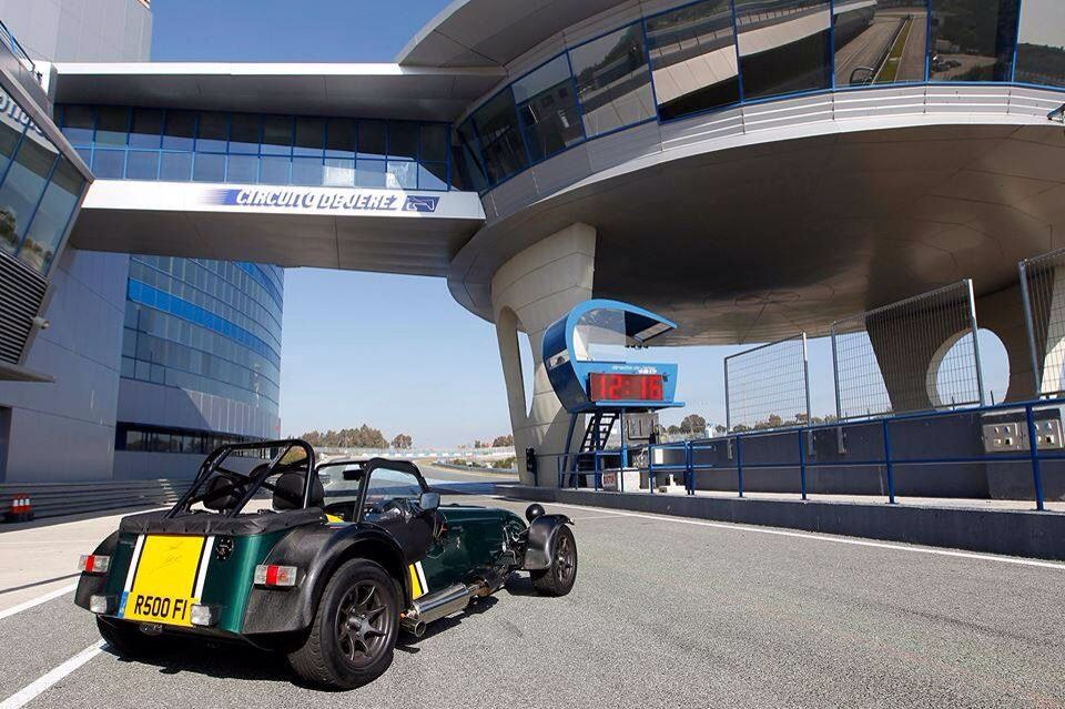 Caterham Seven at rest in Jerez F1 circuit