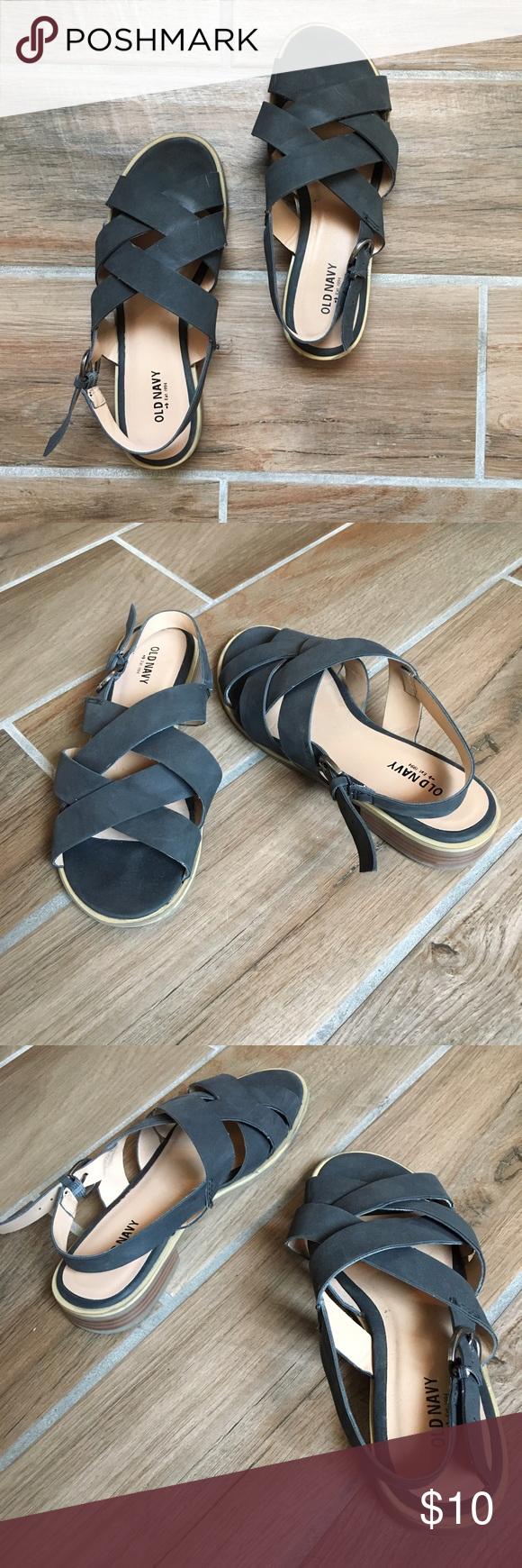 Black sandals old navy - Black Strapy Sandals