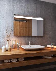 Lustro łazienkowe Linea Led Z Oświetleniem Led Ruke Mirrors