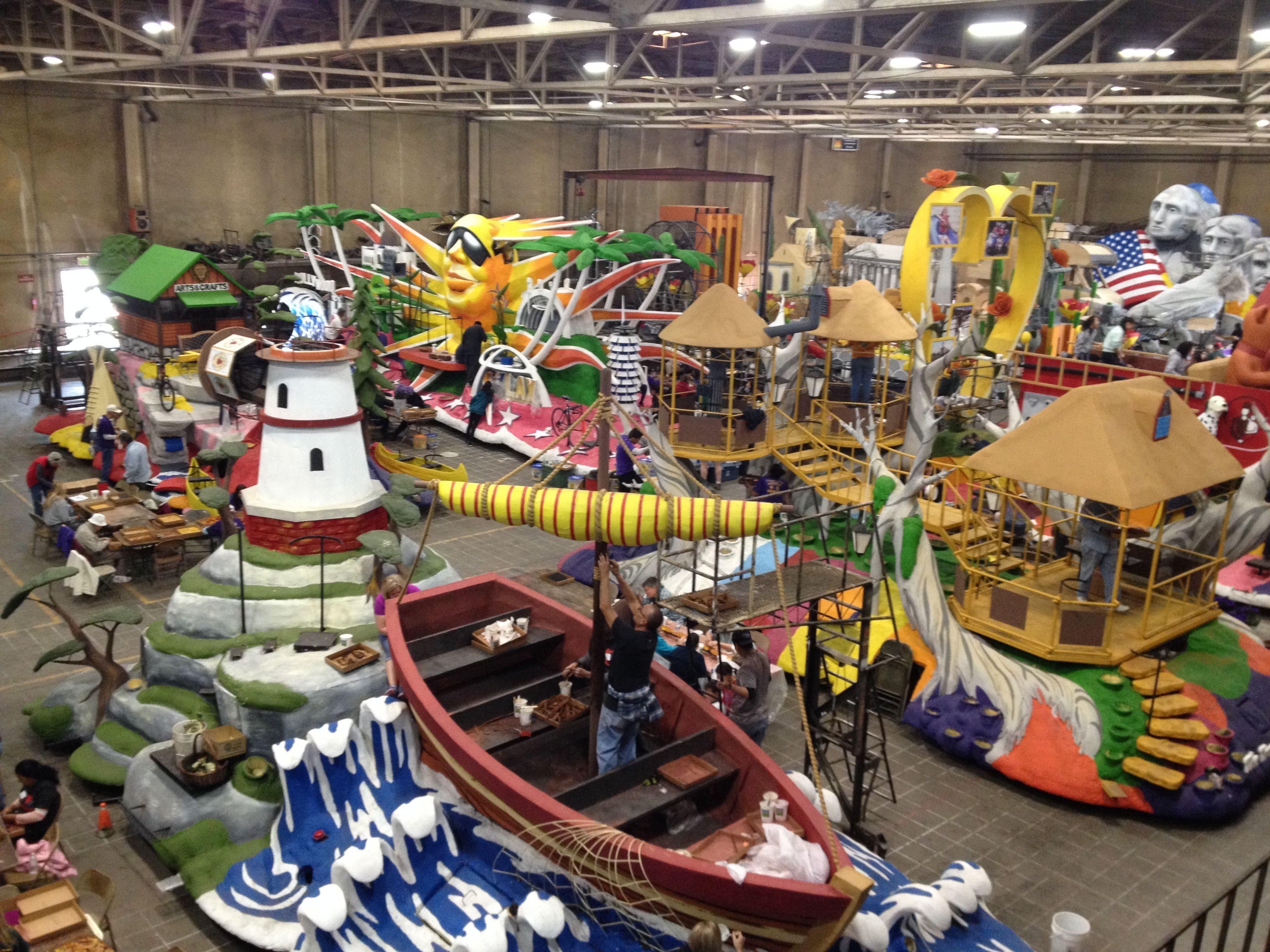 2016 Rose Parade floats, at Phoenix Decorating Company