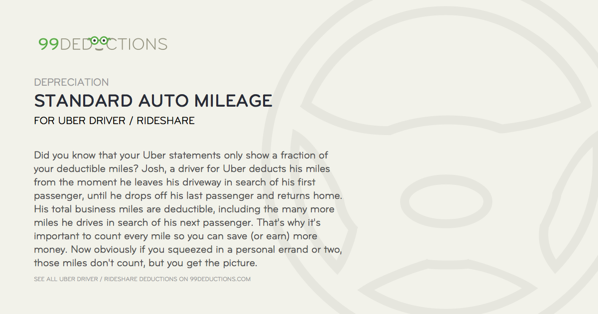 Tax Deductions made simple by 99Deductions. Standard Auto Mileage: If you use a vehicle for busin... #99deductions