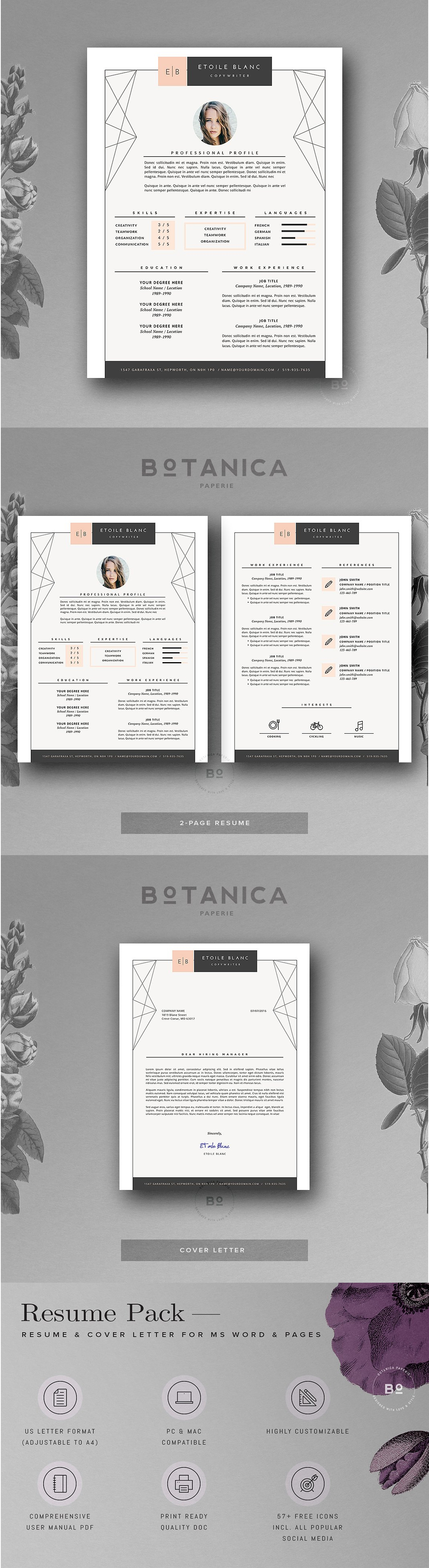 Creative Resume Template • Etoilé Resume template