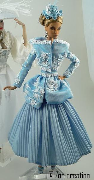 gorgeous blue~lets see what my lil fashionistas say... may be a crafty kind of day.