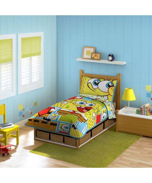 Spongebob Squarepants 4 Piece Toddler Bedding Set Cookieskids