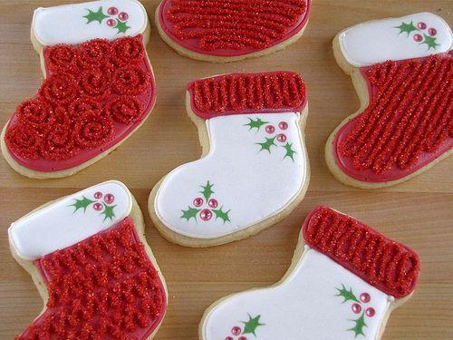 Christmas Stocking Sugar Cookies 2010