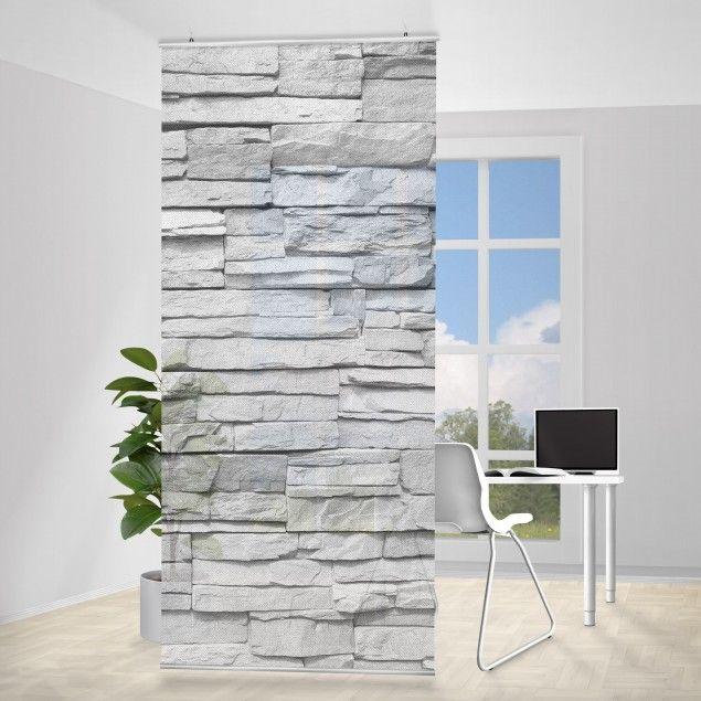 Gut #Raumteiler | #Vorhang   Ashlar Masnory 250x120cm #industrial #Style  #modern #