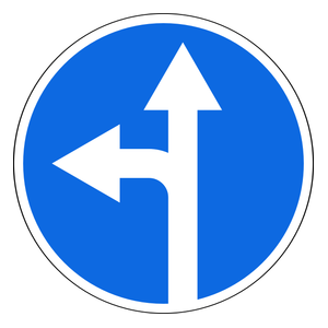 Turn Left Or Continue Straight On Traffic Signs Traffic Road Signs