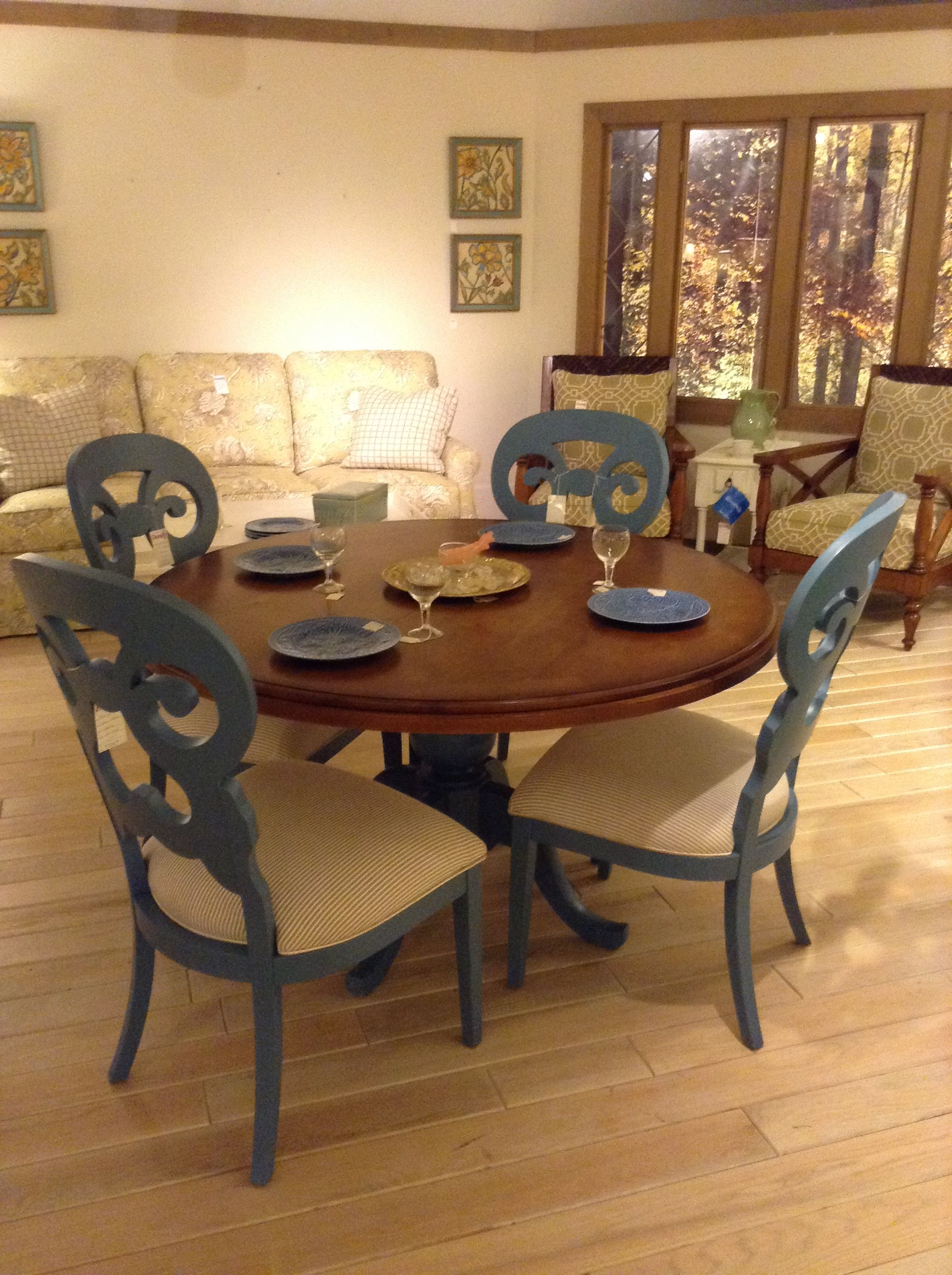 A Funky Dining Set With Touches Of Blue From Canadel Httpwww Prepossessing Funky Dining Room Table And Chairs 2018