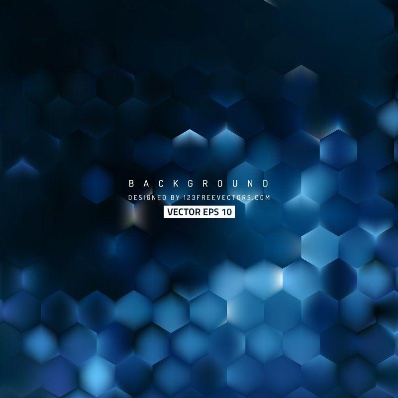 Blue Black Hexagon Background Pattern Background Patterns