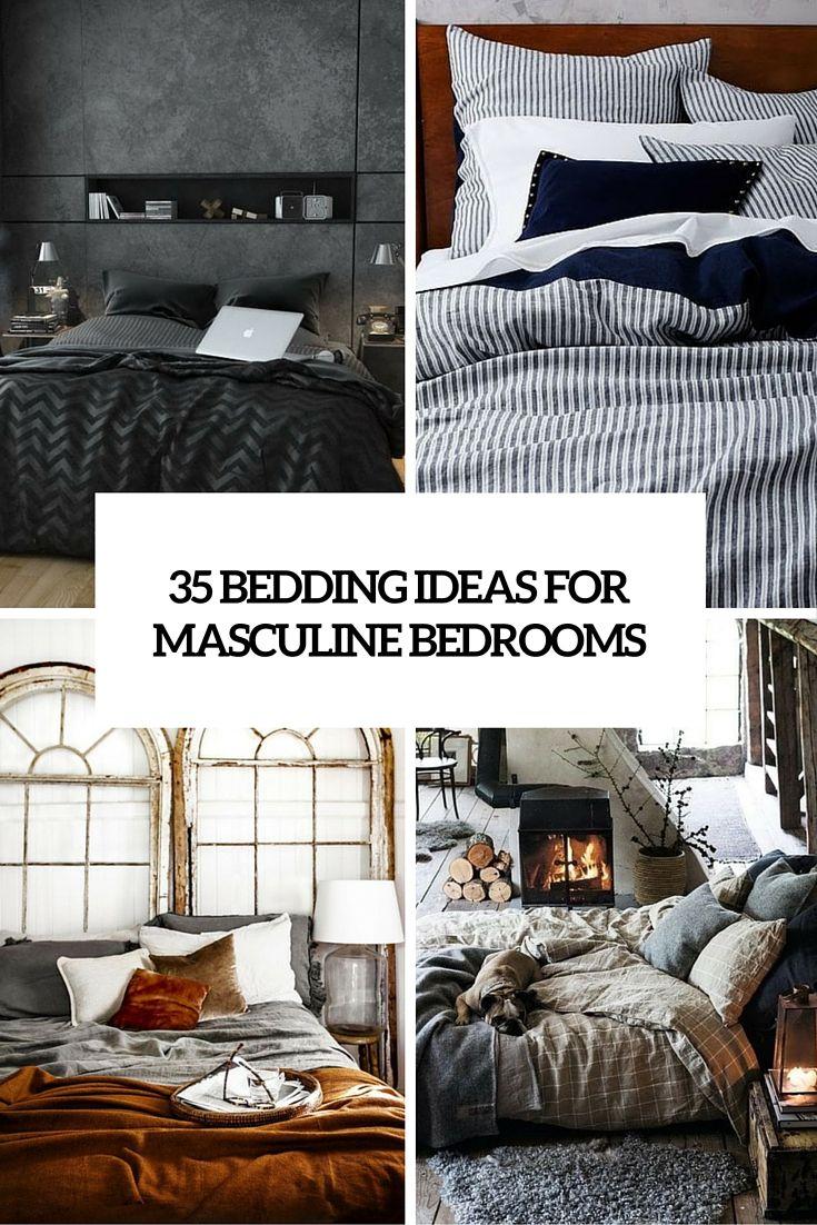 Masculine Bed Sets In 2020 Masculine Bedroom Bedroom Ideas For