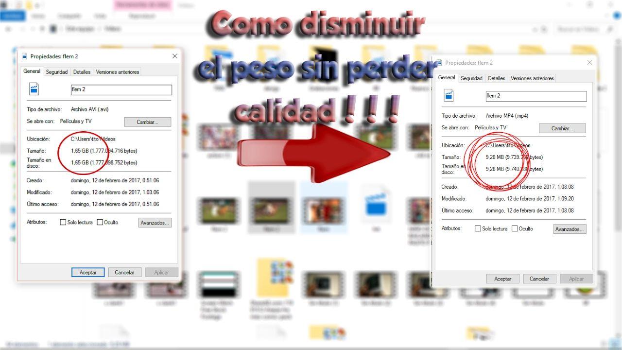 Comprimir Video Sin Perder Calidad Como Comprimir Videos De 1gb A 12megas Sin Perder Calidad