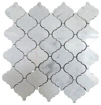 Arabesque Marble Mosaic Tile X White 1 Carton 15 Sheets Contemporary Gl Stone Ltd