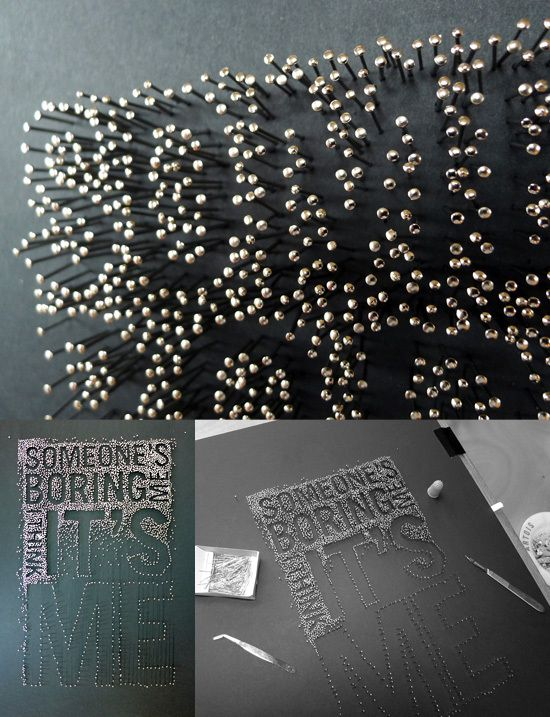 Martin Pyper – Typography with steel pins