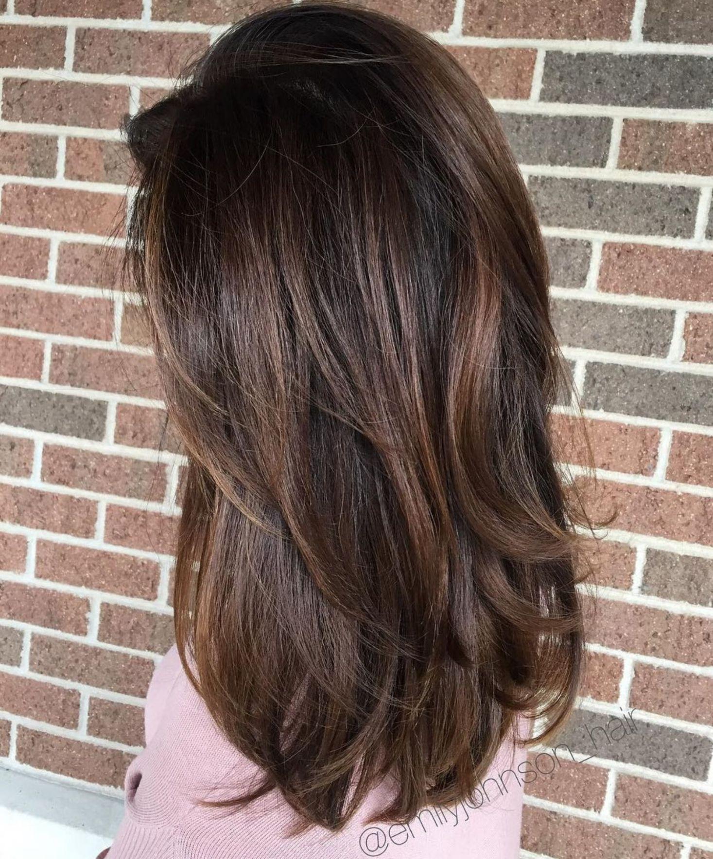 Long Dark Hair With Chocolate Highlights Hair Long Dark Hair Chocolate Brown Hair
