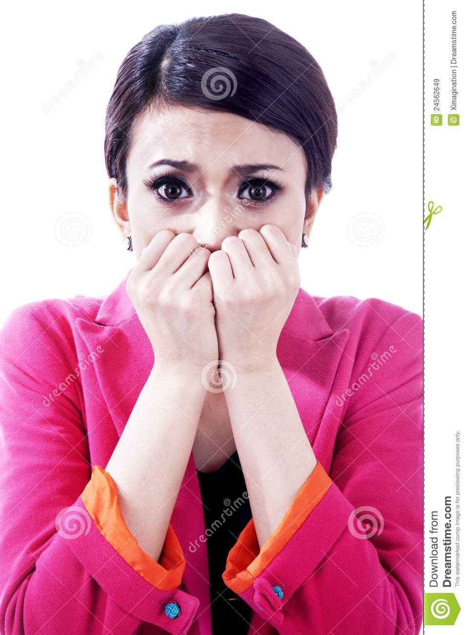 Scared Nail Biter Google Search Business Women Stock Images Free Image