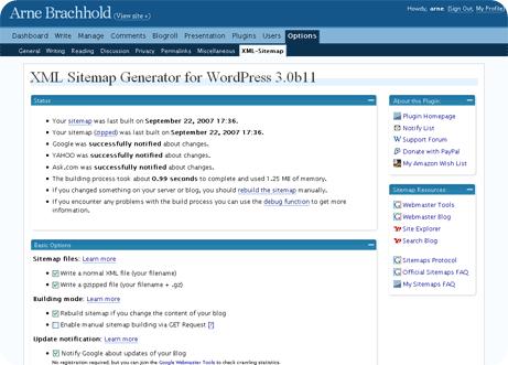 google xml sitemaps generator for wordpress this plugin generates