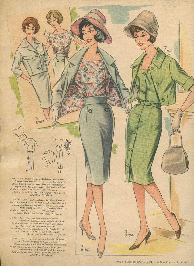 Vintage Schnittmuster - MODENSCHAU - ein Designerstück von ...
