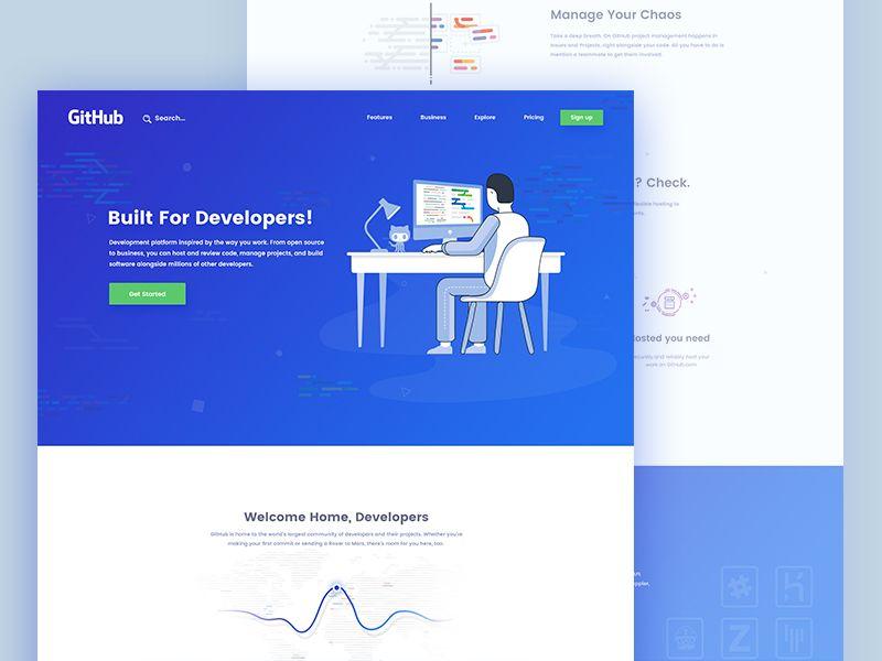 Github   web design   Portfolio web design, Web design