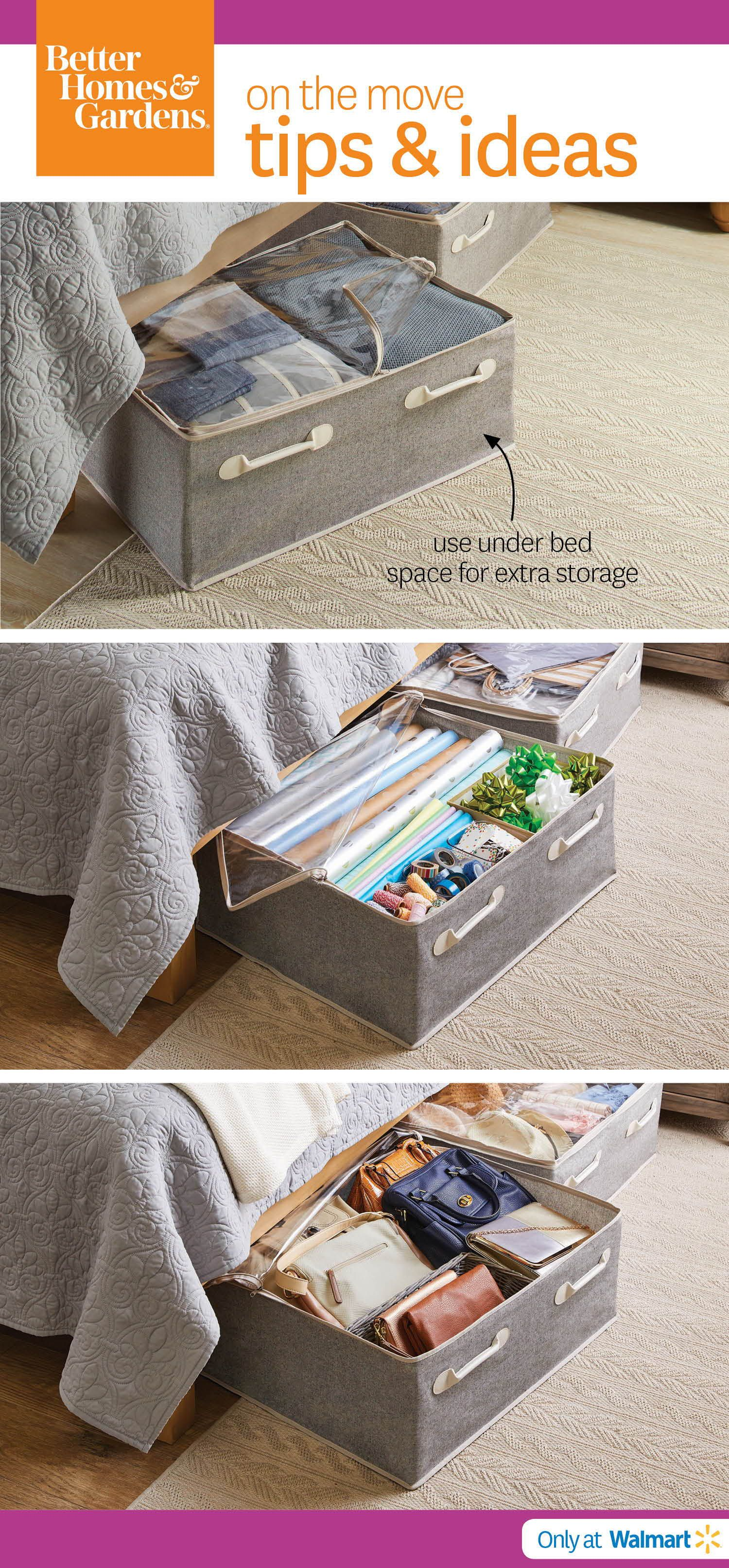 93b286edd Organizing under your bed gives you the extra room you wouldn't use  otherwise. Charleston Under Bed Storage Bags will keep all items neat &  tidy.