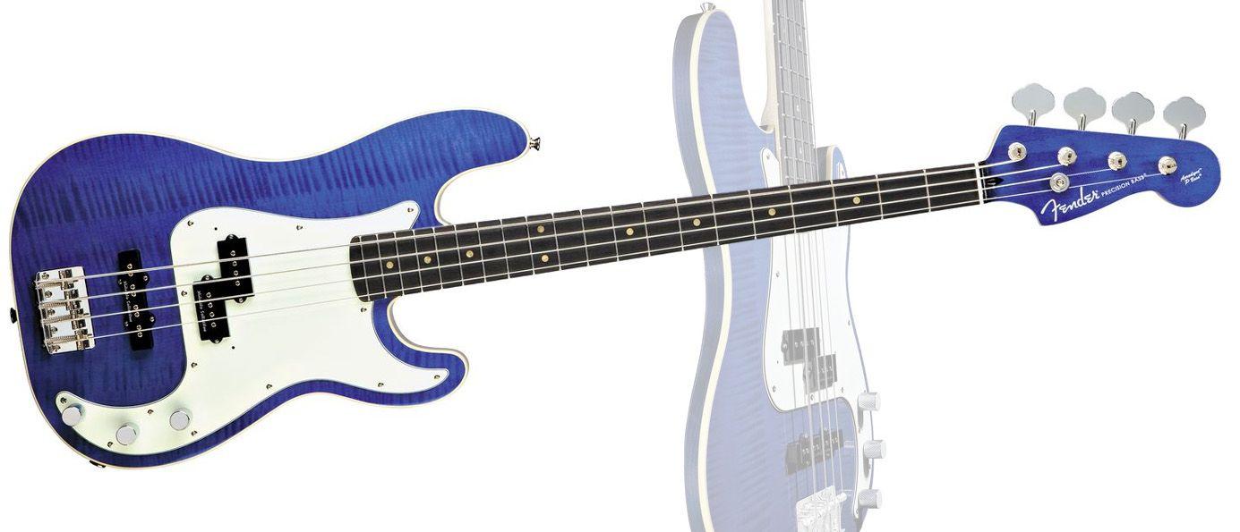 Fender Aerodyne Precision Bass Blue Transparent