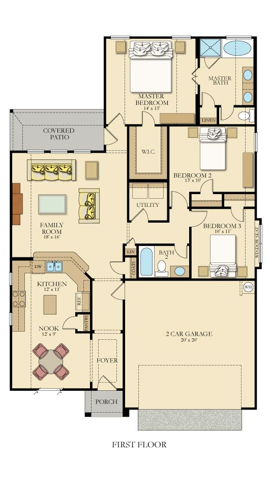 Cantera 3715 New Home Plan In Potranco Run Brookstone By