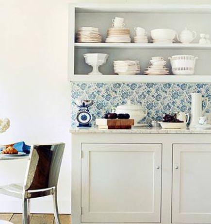 wallpaper #shelving Köök Pinterest - küche fliesenspiegel verkleiden