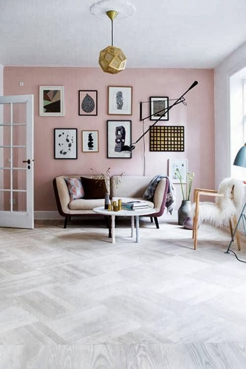 Image Result For Light Pink Accent Wall