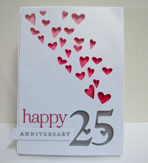 25th Wedding Anniversary Anniversary Cards Handmade Anniversary Cards For Husband Anniversary Card For Parents